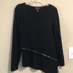 INC Tunic Sweater Black SZ M Long Sleeves NWT